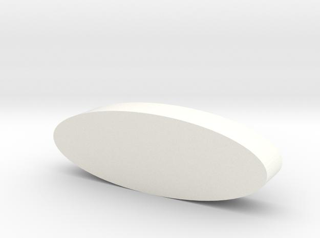 Ring Model 2 Part 1 in White Processed Versatile Plastic