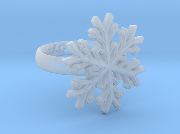 Snowflake Ring 1 d=17mm h35d17 in Smooth Fine Detail Plastic