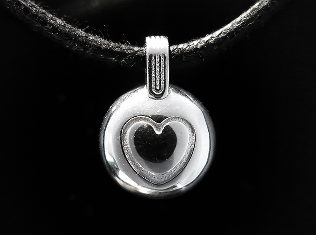 Love in Rhodium Plated Brass