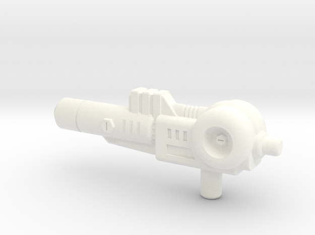 Kick-off Gun in White Processed Versatile Plastic