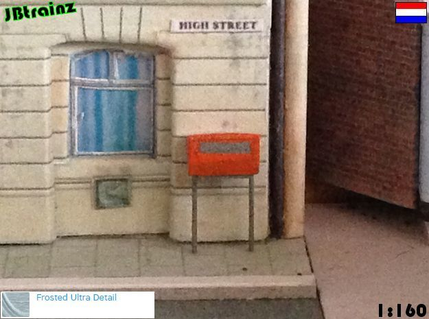 5 Mailboxes - Dutch (1:160) in Smooth Fine Detail Plastic