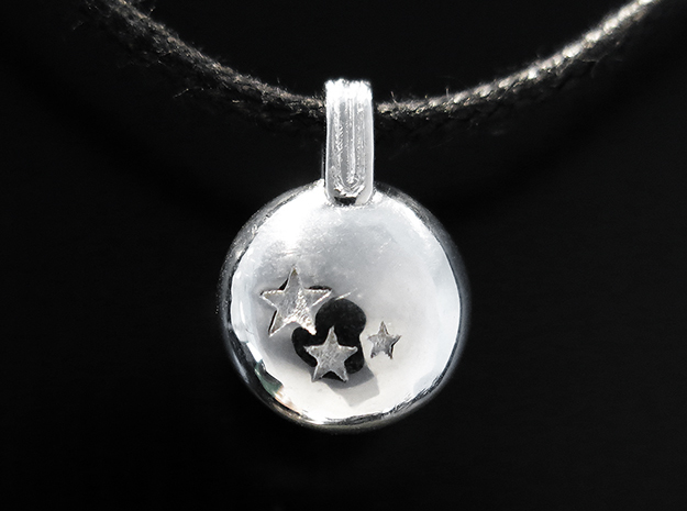 Stars in Rhodium Plated Brass