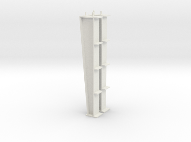 1/64 20ft I-beam Post in White Natural Versatile Plastic