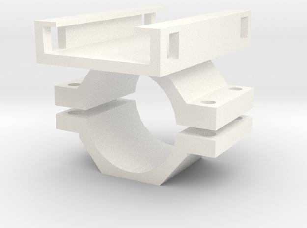 Ion Barrel Mount Reversible in White Processed Versatile Plastic