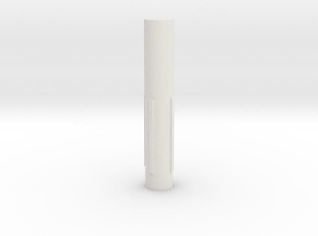 Tesla Turbine Axle 3/5 in White Strong & Flexible