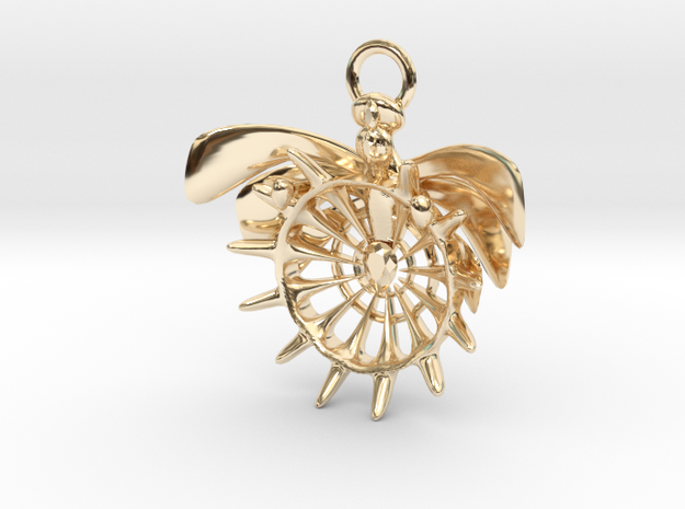 Holy pendant in 14K Yellow Gold