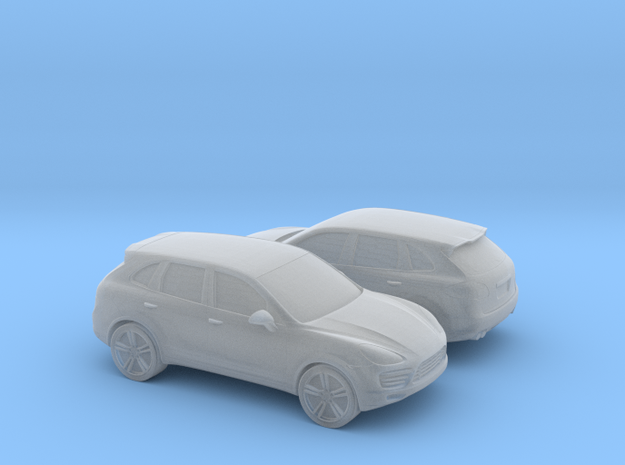 1/128 2X 20111 Porsche Cayenne 859 in Smooth Fine Detail Plastic