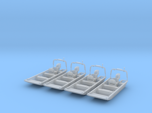 Flat Bottom Boat 01.  N Scale (1:160) or 10mm in Frosted Ultra Detail