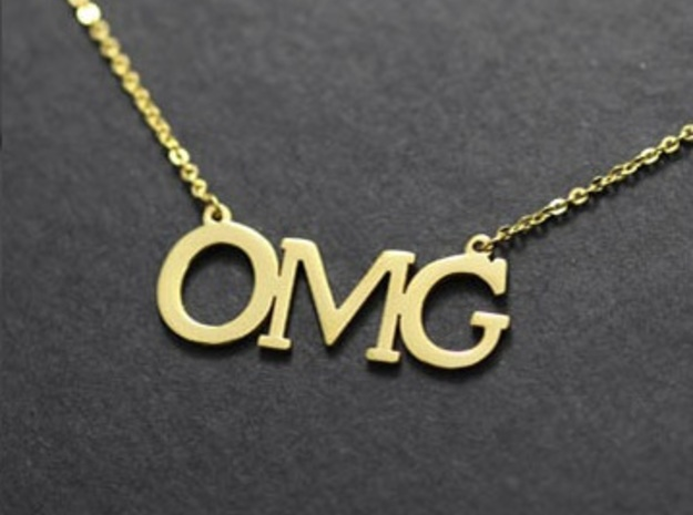 OMG Necklace in 14K Gold