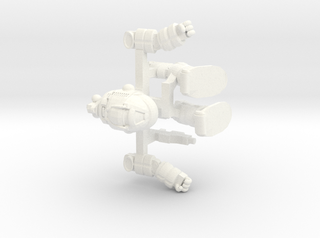 Ogre Posable (Free Download) in White Processed Versatile Plastic