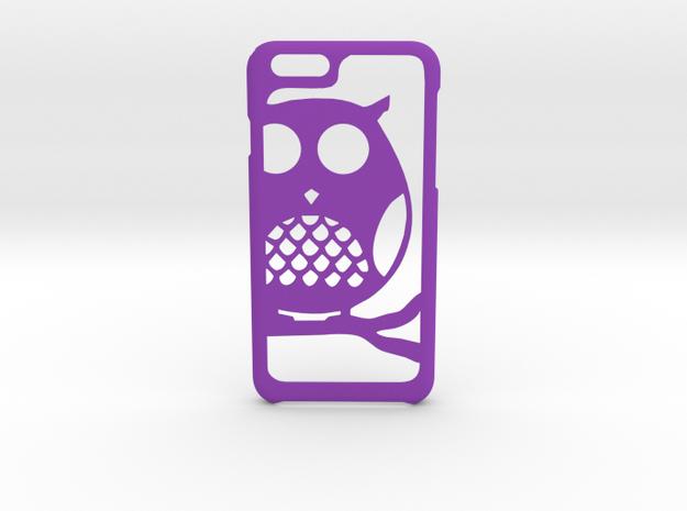 OWL iPhone 6 6s case in Purple Processed Versatile Plastic