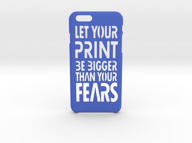 PrintBig iPhone 6 6s case in Blue Processed Versatile Plastic