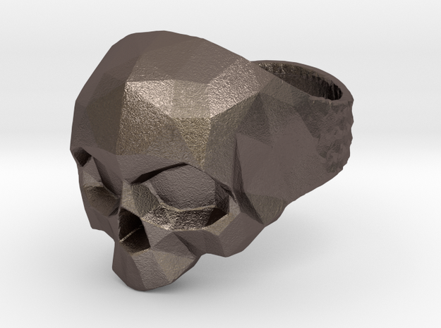 Polygonal Skull Ring Bynachoriesco US10Size in Stainless Steel