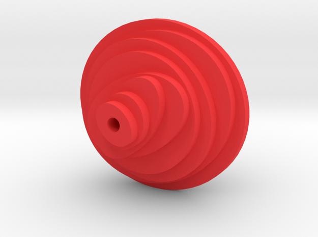 Earrings - Part 1 in Red Processed Versatile Plastic