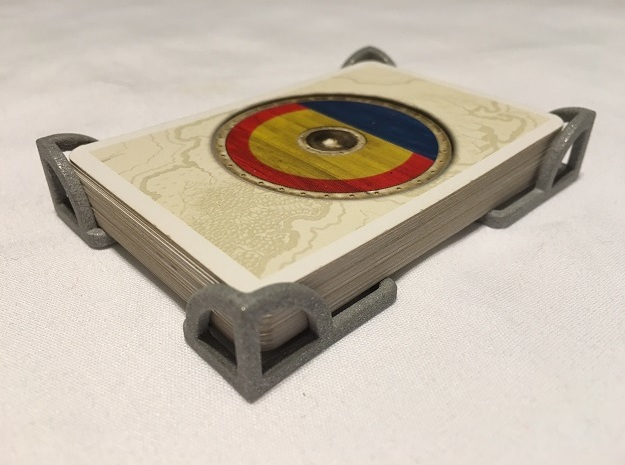 Catan One Deck Card Holder in White Processed Versatile Plastic