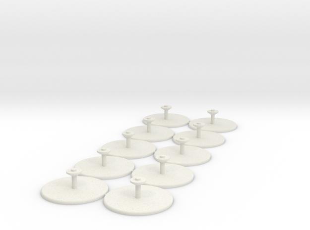 10-pack 15mm Grav/GEV Hover Stands in White Strong & Flexible