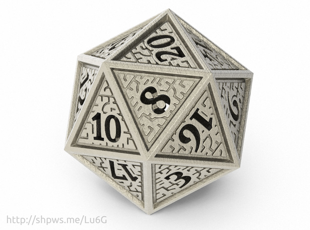 Hedron D20 (Hollow), balanced gaming die