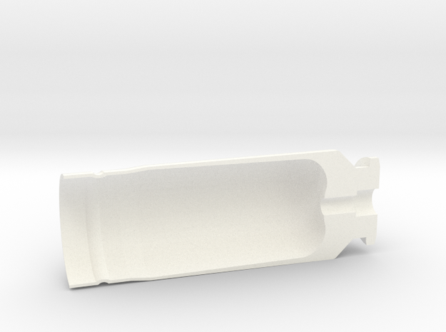 """30x90mm Cutaway Casing, """"Type A"""" Style  in White Strong & Flexible Polished"""