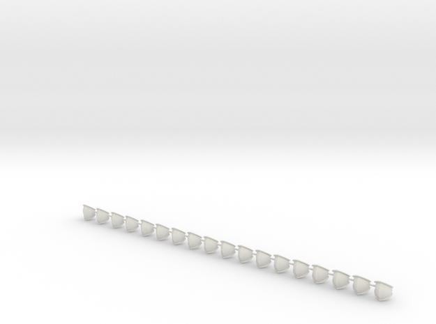 Gothic Knee Armour Plates Mk7 (x18) in White Natural Versatile Plastic
