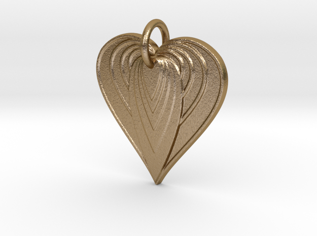 Heartbeat in Polished Gold Steel