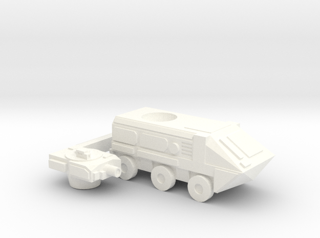 Upsized Fox APC in White Processed Versatile Plastic