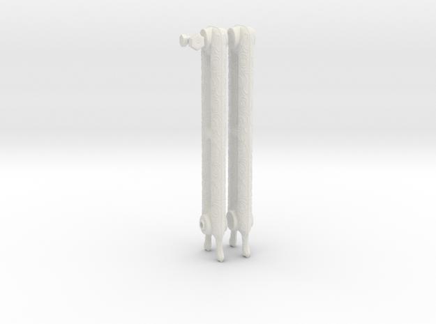 1:6 Decorative Radiator Parts - Legs in White Natural Versatile Plastic