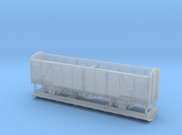 2261 TT Gedeckter Fährbootwagen Gbmhs 51 in Frosted Ultra Detail