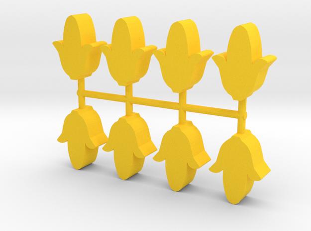 Game Piece, Corn 8-set in Yellow Processed Versatile Plastic