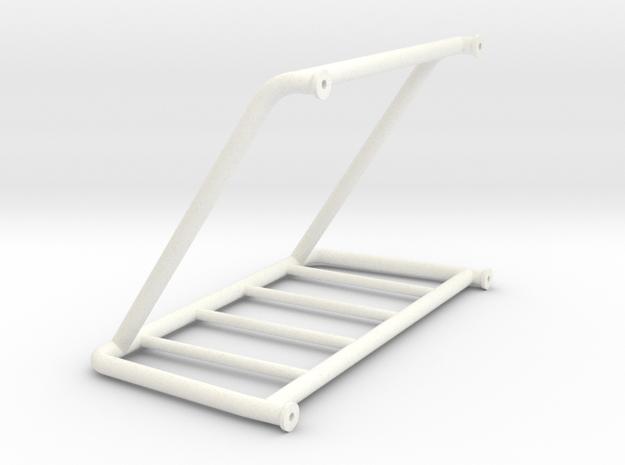 1/10 scale roll bar in White Processed Versatile Plastic