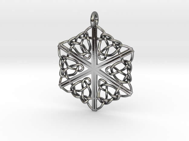 Dreamweaver Celtic Knot Hex in Polished Silver