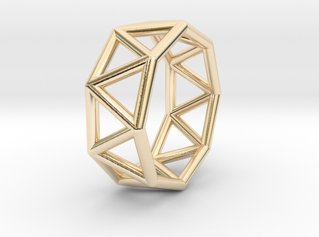 0430 Octagonal Antiprism (a=1сm) #001 in 14K Yellow Gold