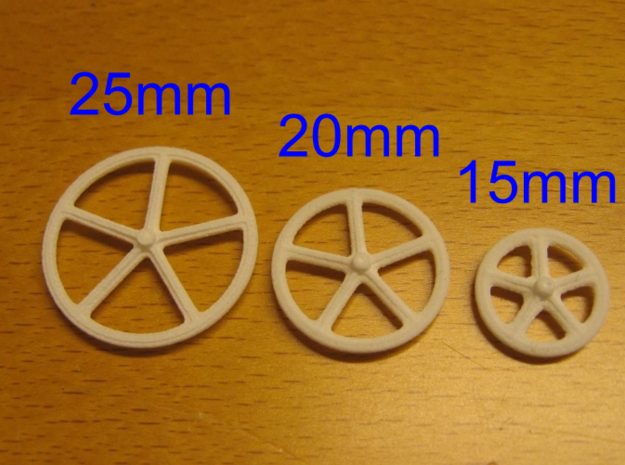 25mm wheels, 16pcs 3d printed Different sizes available