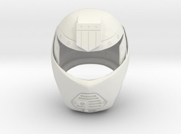 Judge Dredd 1995 - Judge Hunter Helmet in White Strong & Flexible