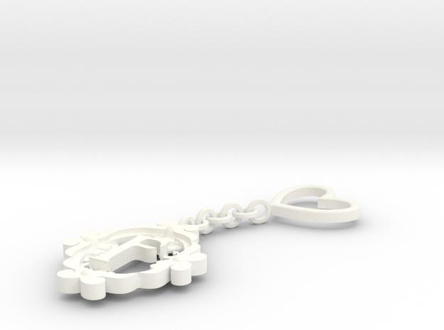 F Keychain Art Nouveau 3d printed
