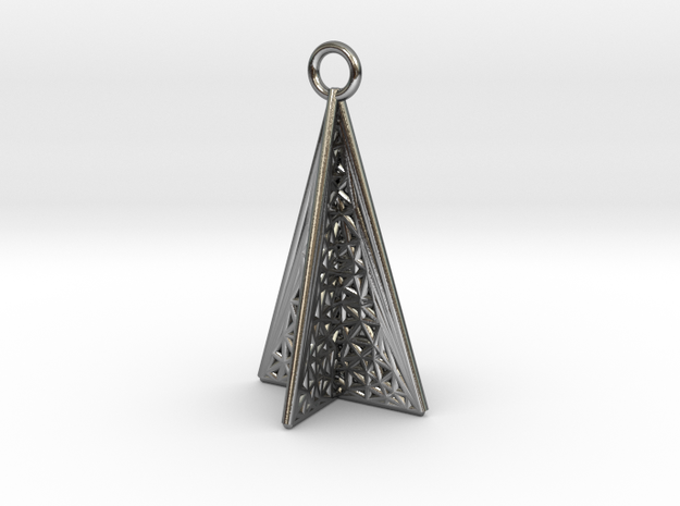 TowerNeckLace in Polished Silver