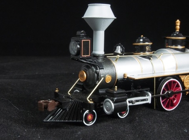 HO scale old time locomotive smokestack set 2 in Frosted Extreme Detail