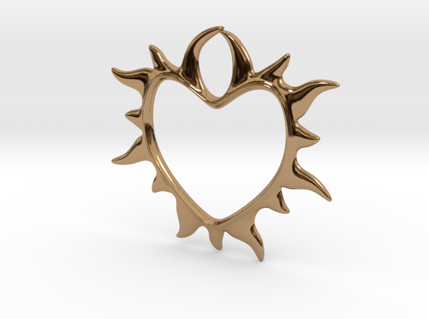 Eternal love in Polished Brass