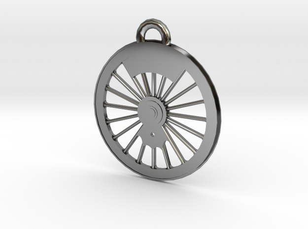 New York Central #999 Driver Necklace in Premium Silver