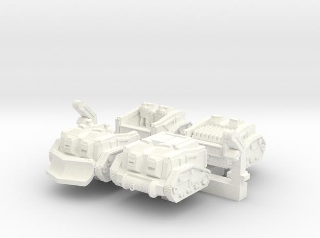 'Mule' Ammunition Tractor Set in White Processed Versatile Plastic