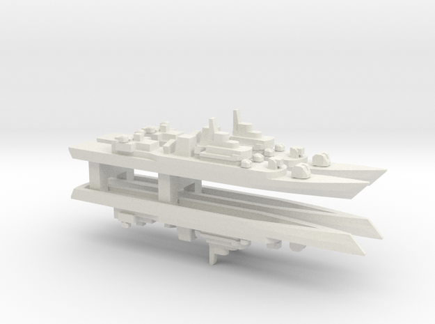 PLA[N] Type 053H3 Frigate x 4, 1/2400 in White Natural Versatile Plastic