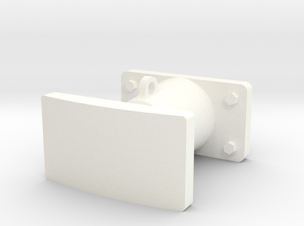 Buffer in White Processed Versatile Plastic