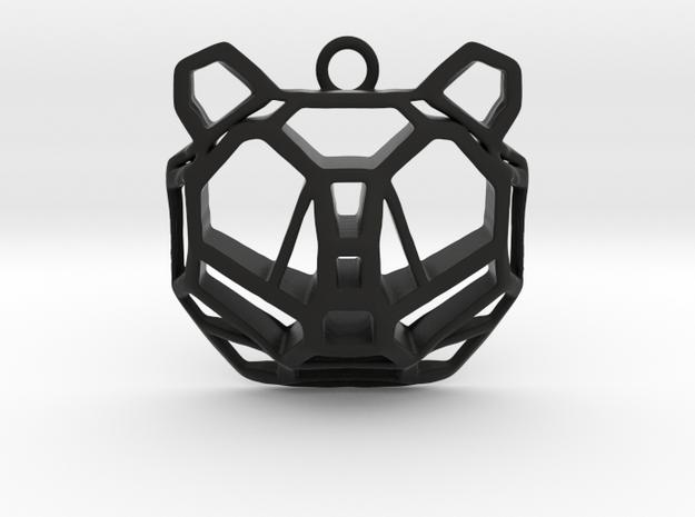 BEAR pendant in Black Natural Versatile Plastic