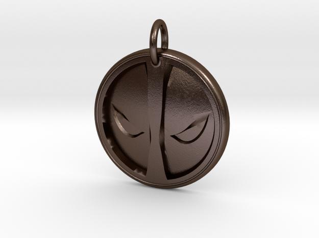 Deadpool Pendant in Polished Bronze Steel