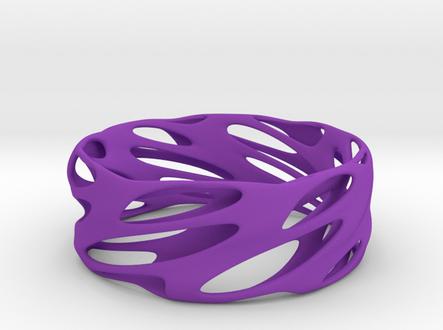 Bracelet Spiral in Purple Processed Versatile Plastic