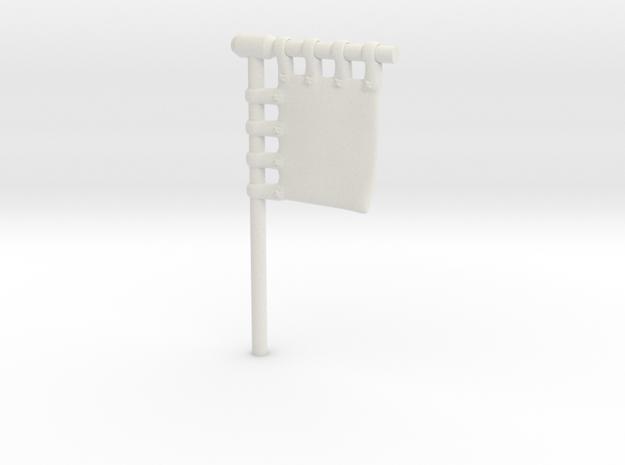 28mm/32mm Customisable Sashimono Flag Short in White Natural Versatile Plastic