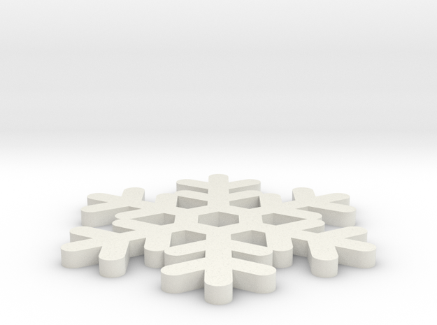 Flocon in White Natural Versatile Plastic