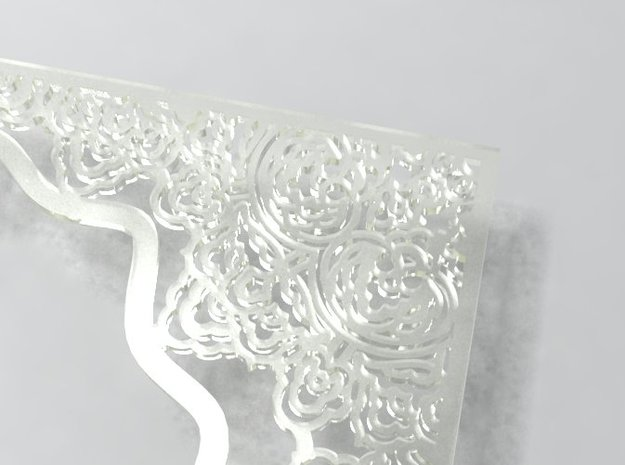 Ornate frame 3d printed detail in translucent material
