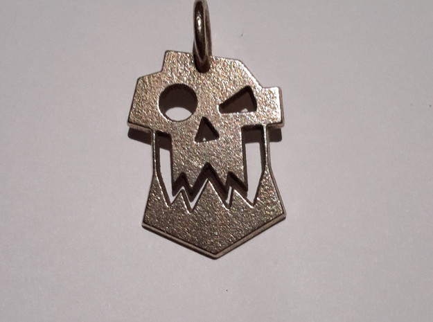 Ork Keychain in Polished Bronzed Silver Steel