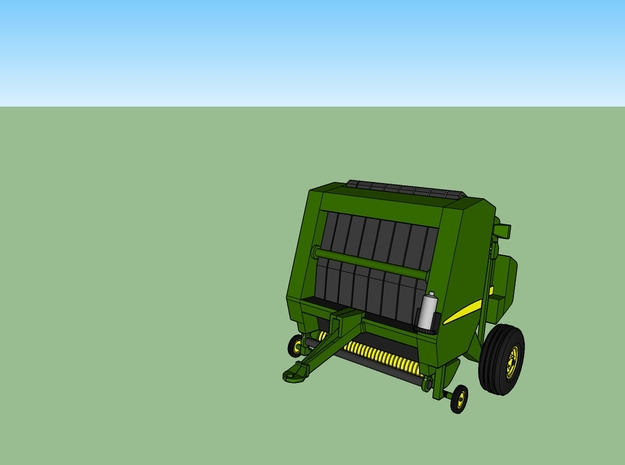 N Farming Round Baler in Frosted Ultra Detail