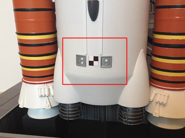 Orion SLS Umb Conns 1:72 in Smooth Fine Detail Plastic